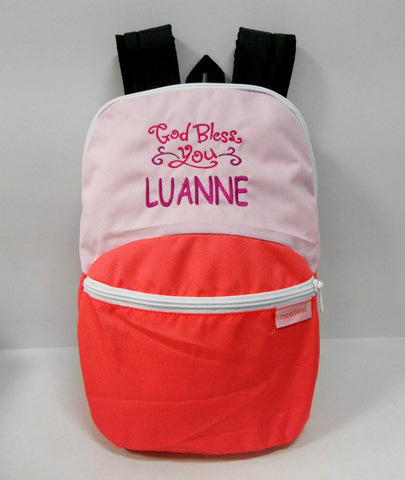 Kids bag with personalized embroidery