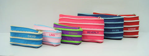 Personalized Zippy pouch with name embroidery