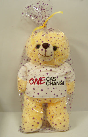 Teddy bear with logo