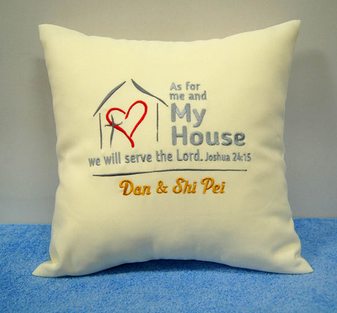 Cushion with Christian Themed Design
