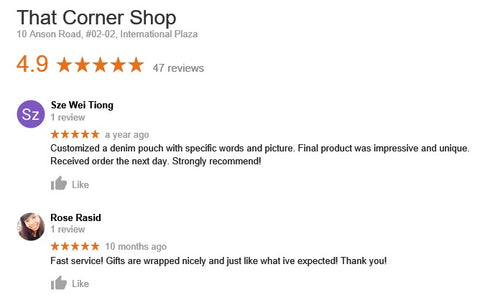 Denim Pouch Review by Customer