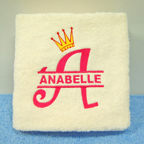 Personalised beige hand towel