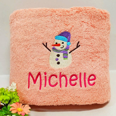 Christmas pink towel