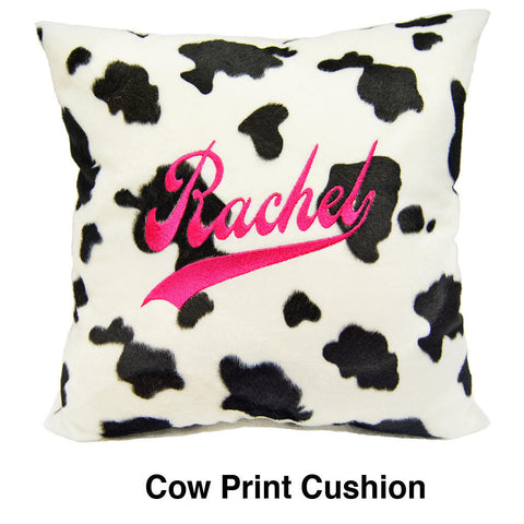 Cow faux fur cushion