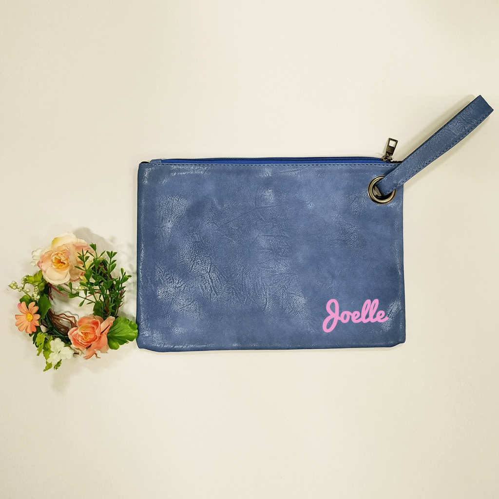 Personalised woman clutch bag
