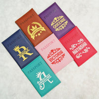Passport covers with different name print