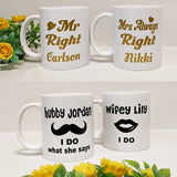 4 Cups with name printing
