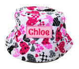 Kids Sun hat with pink love shape design