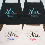Collage of couple aprons