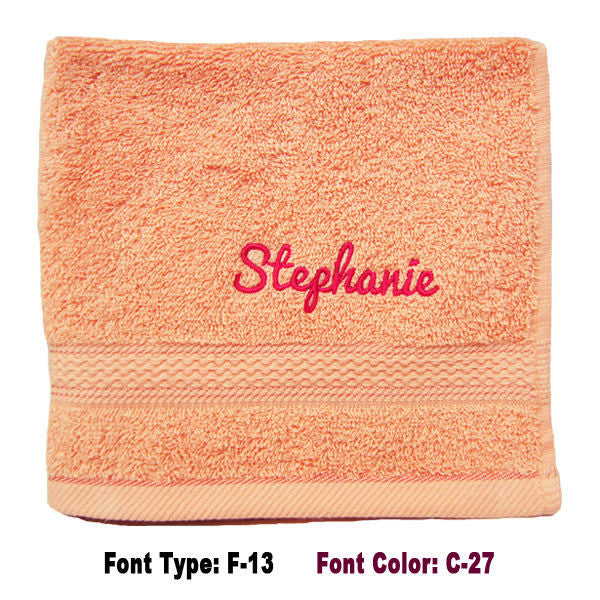 Face Towel With Name Embroidery
