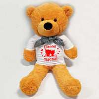 Personalised Giant Cuddle Teddy Bear (85cm Tall)