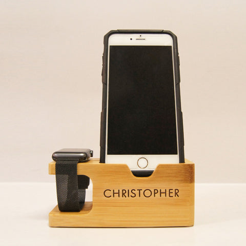 iPhone Stand with name engraving