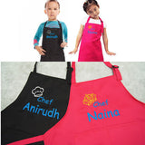Personalised kids chef apron with embroidery