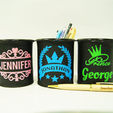 3 pencil holder with different prints