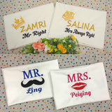 Personalised Pillow case with name embroidery
