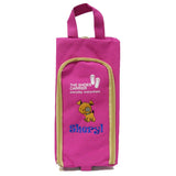 Personalised  shoe bag with embroidery (pink color)