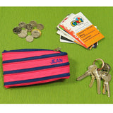 Zippy purse with coins, cards and keys