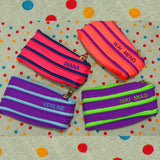 Personalised zippy purses with names