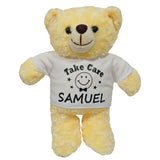Personalised teddy bear (white shirt)
