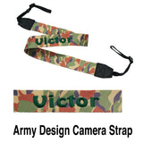 Personalised Camera Strap (army design) with name embroidery