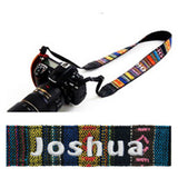 Personalised Camera Strap with your name embroidery