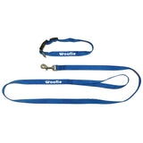 Personalised Dog collar and leash set (blue color)