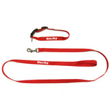 Personalised Dog collar and leash set (red color)