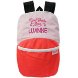 Personalised Kids back pack (pink) with name embroidery