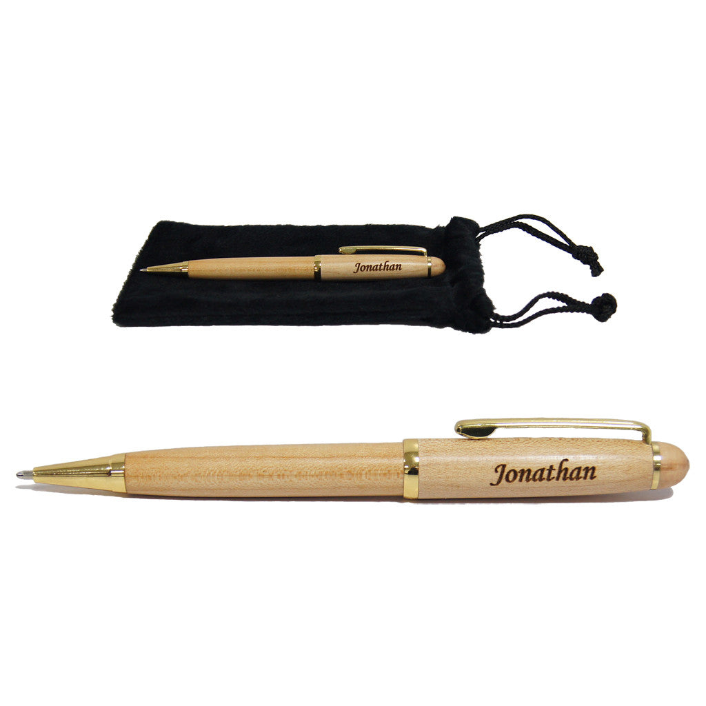 Personalised Wooden Pen with name laser engraving, best as birthday gift
