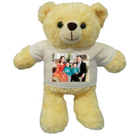 Personalised teddy bear with photo printing