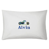Personalised pillow case with embroidery