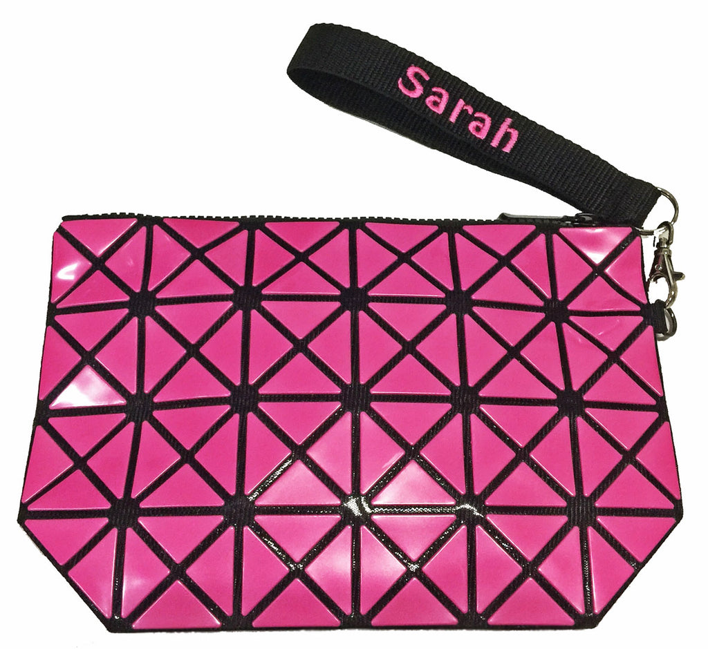Pink Geometric Pouch
