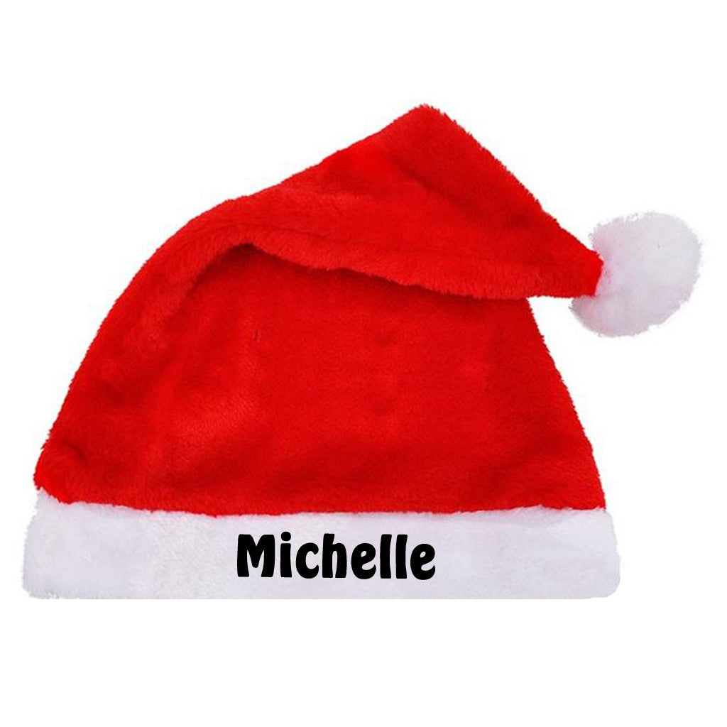 Personalised Santa Claus Hat with name embroidery