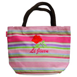 Personalized tote bag (pink) with name embroidery