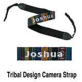 Personalised Camera Strap (tribal design) with name embroidery