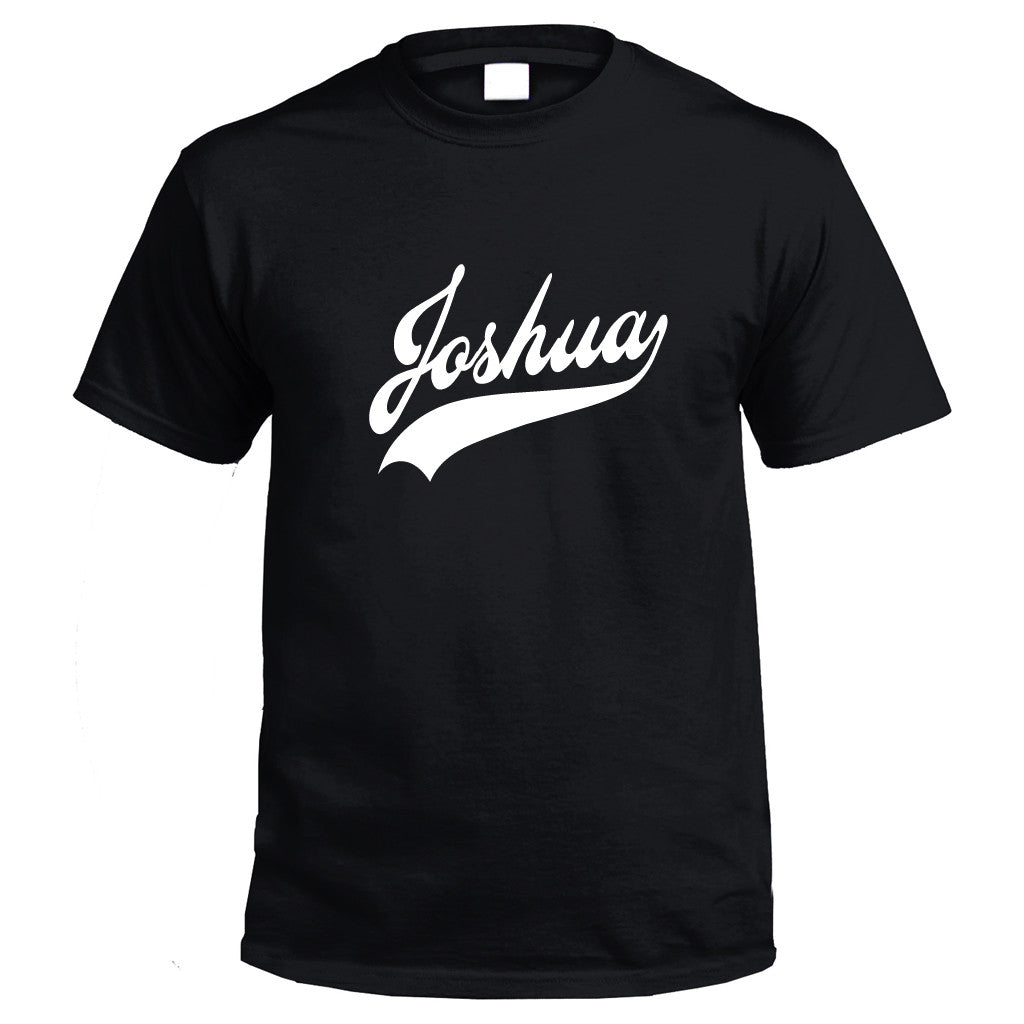 Personalised T-Shirt (black) with name printing