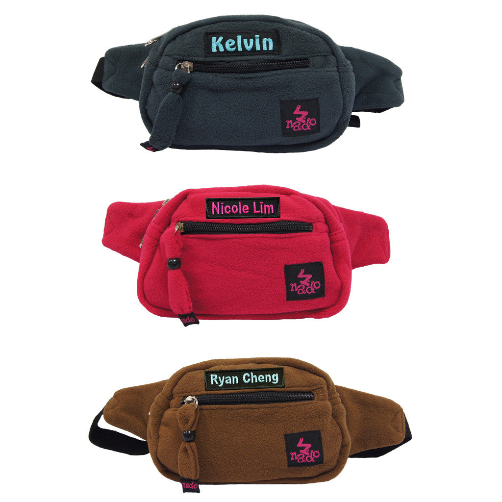 Personalised waist pouch with name embroidery
