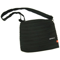 Personalised Zippy Sling bag (black) with name embroidery