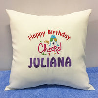 Personalised Embroidery Cushion Singapore