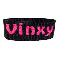 Personalized velcro strap with name embroidery (black)