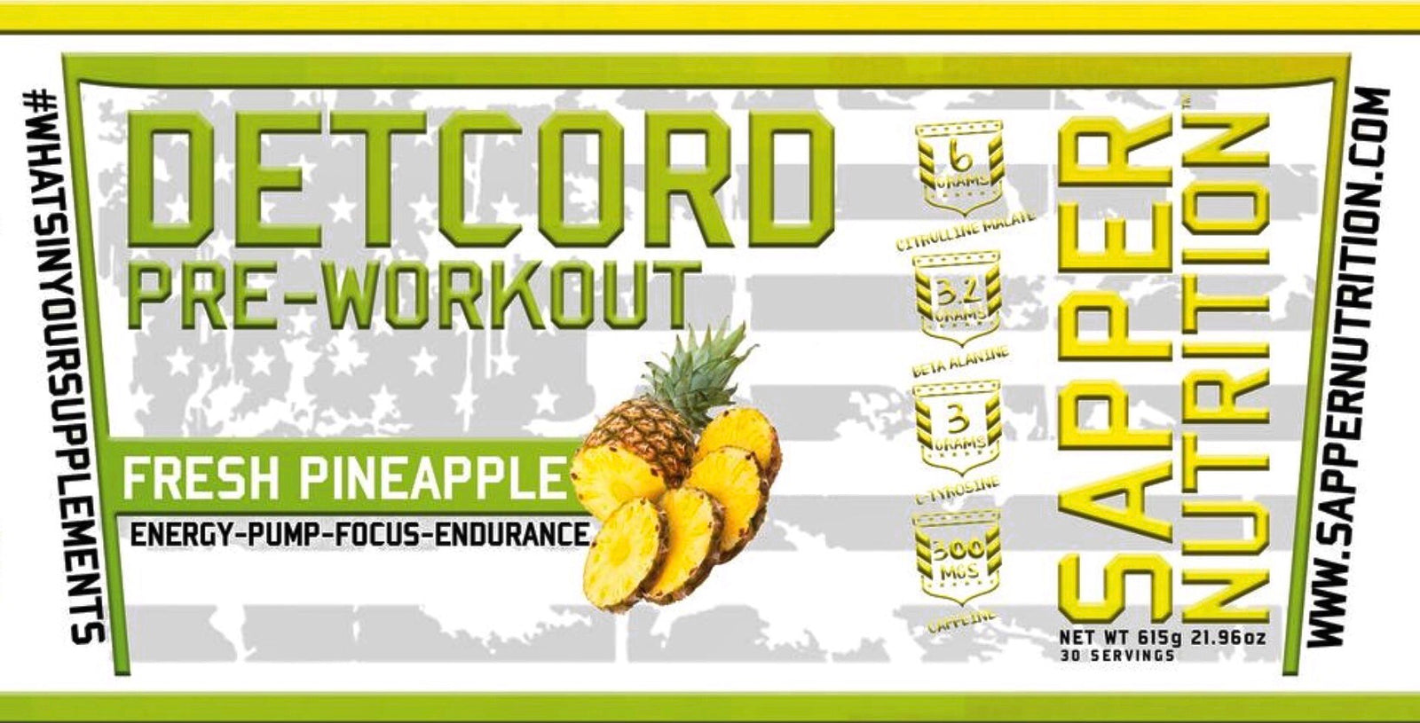 Detcord Pre Workout | Fresh Pineapple