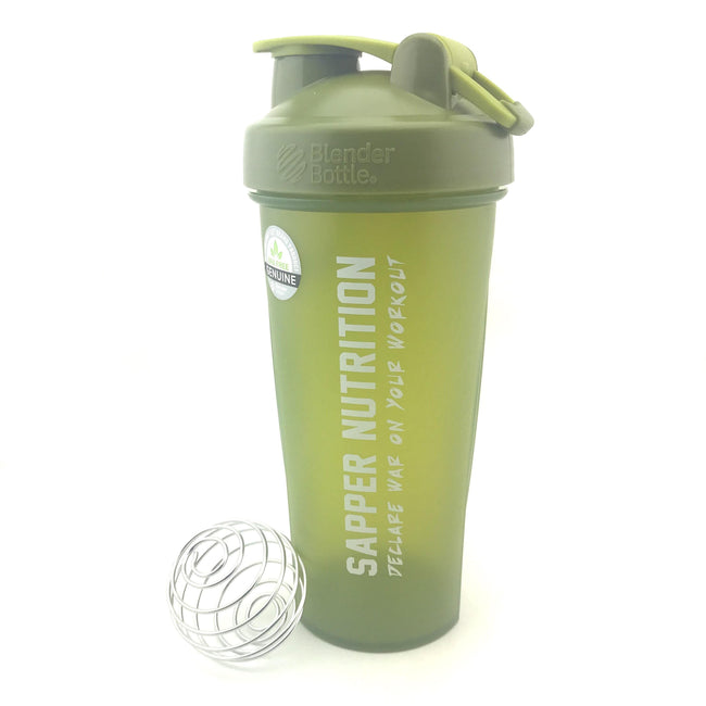 28oz Custom Sapper Nutrition Blender Bottle™ | OD Green