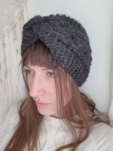 GREY WOOL HEADBAND