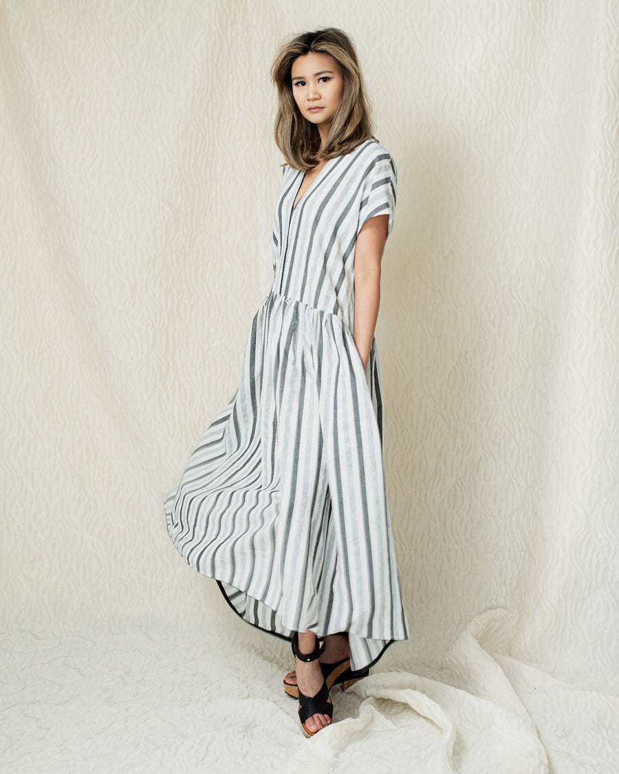 Line Dress in Grey