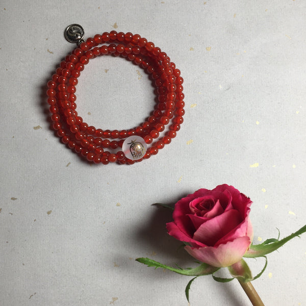Bright Happiness Taoist Red Onyx Bracelet - ZentralDesigns