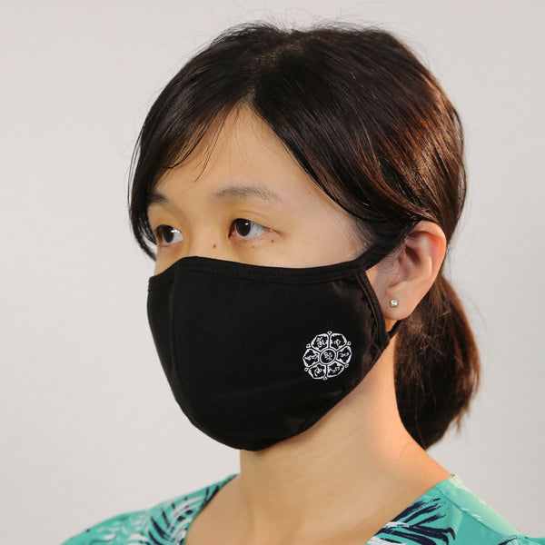 Reusable Cloth Face Mask Covering, Zen Buddhism 2-Layer Washable Cotton Mask