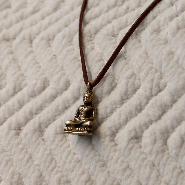 Tibetan Vintage Buddha Adjustable Necklace, Protection Rear View Mirror Charm #20 - ZentralDesigns
