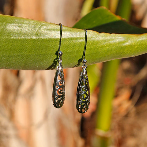 Hollow-out Silver Boho Chic Dangle and Drop Earrings - ZentralDesigns