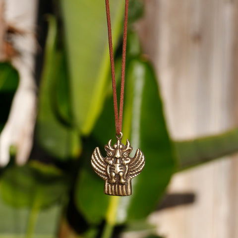 Vintage Tibetan Garuda Bird Necklace, Adjustable Tibetan Buddhism Charm #26 - ZentralDesigns