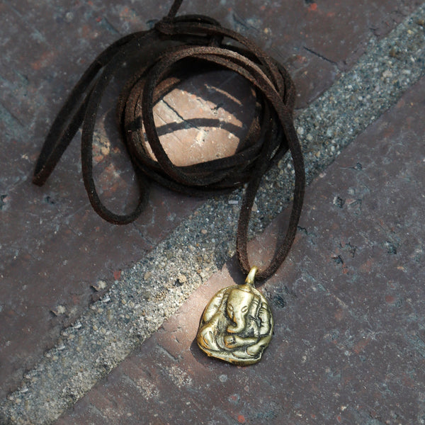 Elephant Buddha Small Adjustable Necklace, Rear View Mirror Charm, #21 - ZentralDesigns